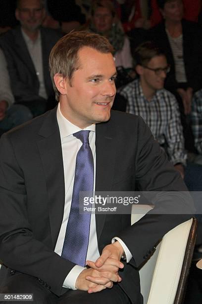 Daniel Bahr ZDFTalkshow 'Markus Lanz' HamburgBahrenfeld Deutschland Europa Studio TalkShow Politiker Promi BB FTP PNr 130/2014