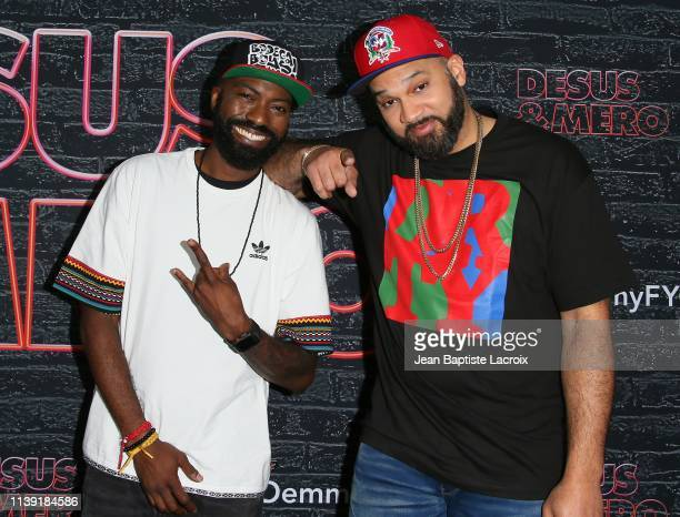 """Daniel Baker """"Desus Nice"""" and Joel Martinez """"The Kid Mero"""" attend the FYC red carpet event of Showtime late night series """"Desus & Mero"""" held at the..."""