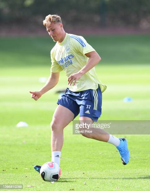 Daniel Ballard of Arsenal during the Arsenal U23 training session at London Colney on August 17, 2020 in St Albans, England.