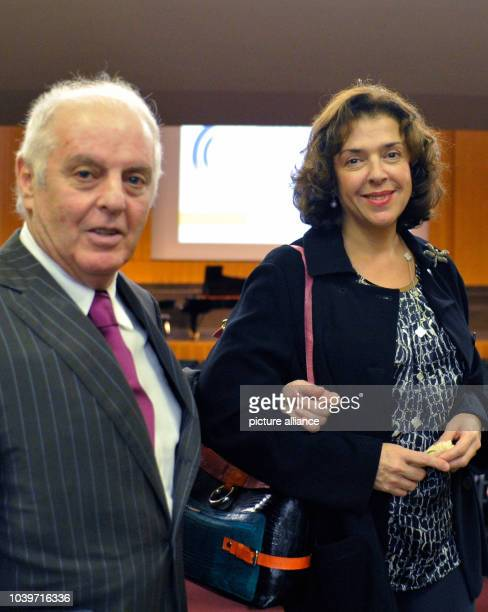 Daniel Barenboim and his wife Elena Bashkirova pose after the ceremony for the Freedom Award of the Freie Universitaet Berlin in the Henry Ford...