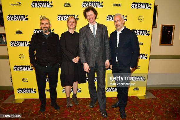 Daniel Battsek Anne Carey Chris Morris Iain Canning attend the The Day Shall Come Premiere 2019 SXSW Conference and Festivals at Paramount Theatre on...