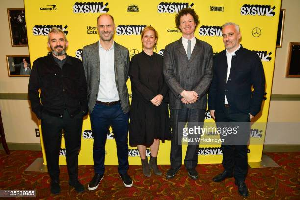 Daniel Battsek Jesse Armstrong Anne Carey Chris Morris Iain Canning attends the The Day Shall Come Premiere 2019 SXSW Conference and Festivals at...