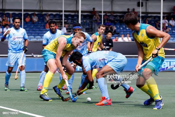 Daniel Beale of Australia during the Champions Trophy match between India v Australia at the Hockeyclub Breda on June 27 2018 in Breda Netherlands