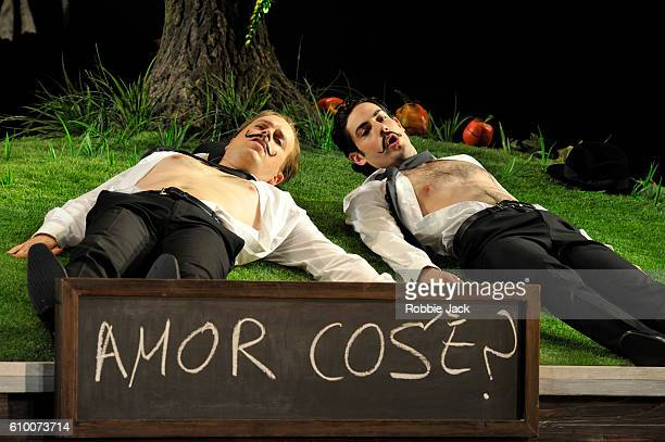Daniel Behle as Ferrando and Alessio Arduini as Guglielmo in the Royal Opera's production of Wolfgang Amadeus Mozart's Cosi Fan Tutte directed by Jan...