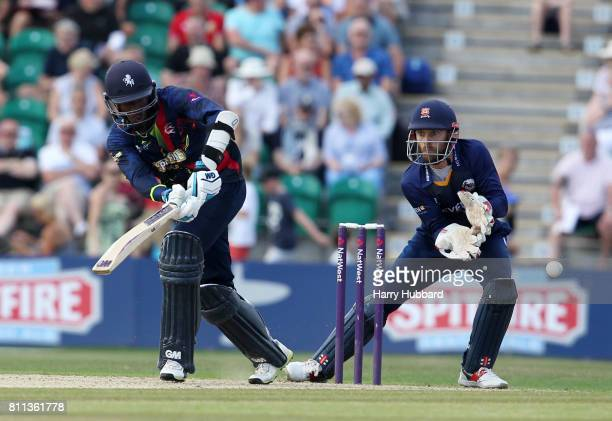 Daniel BellDrummond of Kent Spitfires in action during the Natwest T20 Blast match between Kent Spitfires and Essex Eagles at The County Ground on...