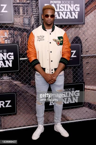 Daniel Bellomy attends 'Power Book III: Raising Kanan' global premiere event and screening at Hammerstein Ballroom on July 15, 2021 in New York City.
