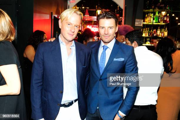 Daniel Benedict and Alex Lundqvist attend OWN With The Cinema Society Host A Party For Ava DuVernay And Queen Sugar at Laduree Soho on May 20 2018 in...