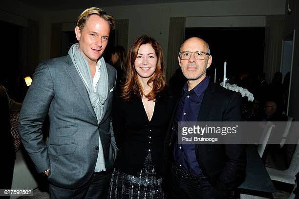 Daniel Benedict Dana Delany and David Kuhn attend The Cinema Society with Piaget host the after party for EuropaCorps Miss Sloane at 432 Park Avenue...