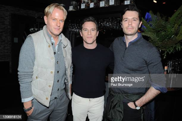 Daniel Benedict Mike Doyle and Charles Warburton attend Sony Pictures Classics And The Cinema Society Host A Special Screening Of The Climb at iPic...