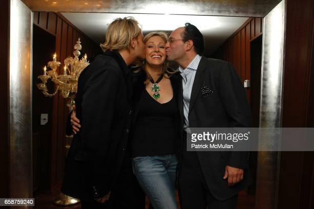 Daniel Benedict Nadia Swarovski and Andrew Saffir attend Swarovski hosts the Proenza Schouler after party at The Hudson Hotel on February 11 2004 in...