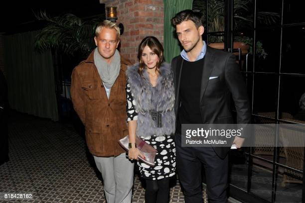 Daniel Benedict Olivia Palermo and Johannes Huebl attend THE CINEMA SOCIETY with JOHN AILEEN CROWLEY host the after party for 'EXTRAORDINARY...