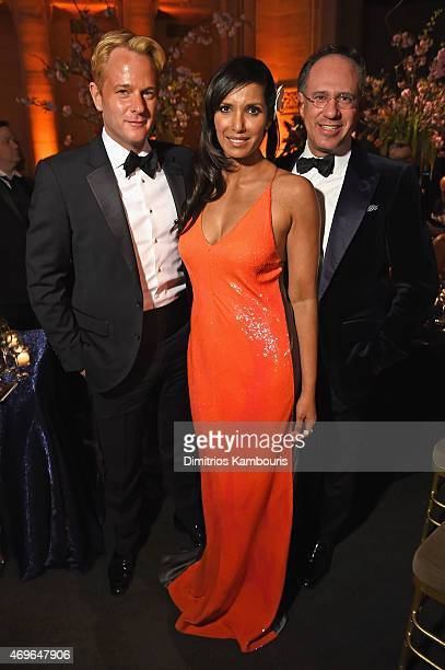 Daniel Benedict Padma Lakshmi and Andrew Saffir attend the 7th Annual Blossom Ball benefiting the Endometriosis Foundation Of America hosted by EFA...