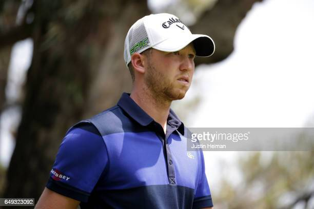 Daniel Berger of the United States looks on during the final round of the World Golf Championships Mexico Championship at Club De Golf Chapultepec on...