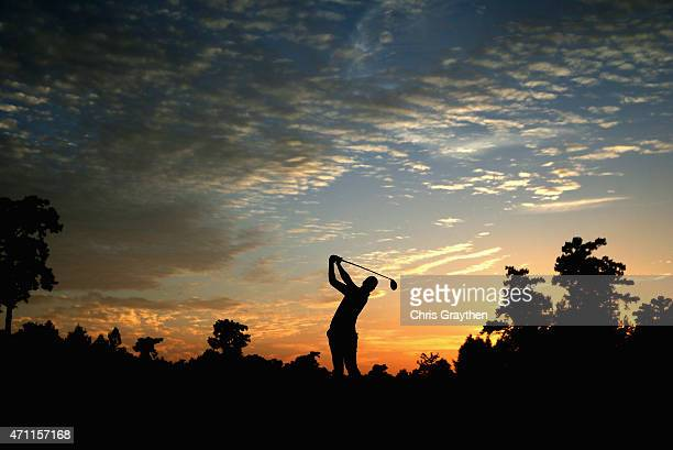Daniel Berger tees off on the fourth hole during round three of the Zurich Classic of New Orleans at TPC Louisiana on April 25, 2015 in Avondale,...