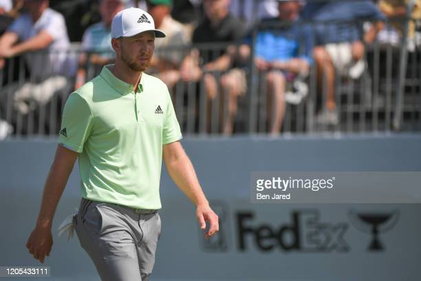 Daniel Berger walks off the first tee during the final round of The Honda Classic at PGA National Champion course on March 1 2020 in Palm Beach...