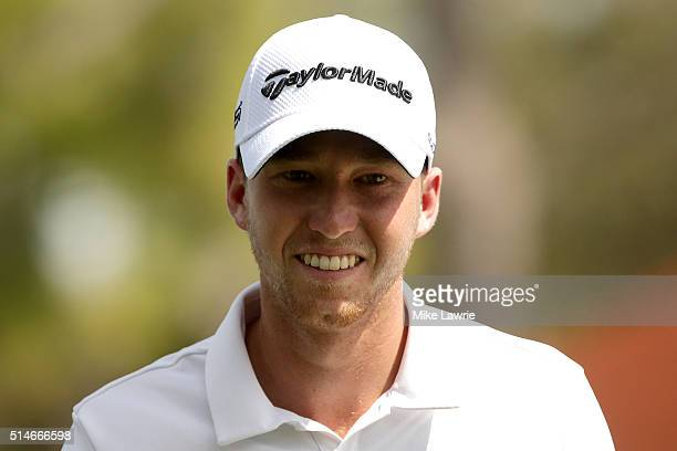 Daniel Berger walks off the ninth green during the first round of the Valspar Championship at Innisbrook Resort Copperhead Course on March 10 2016 in...