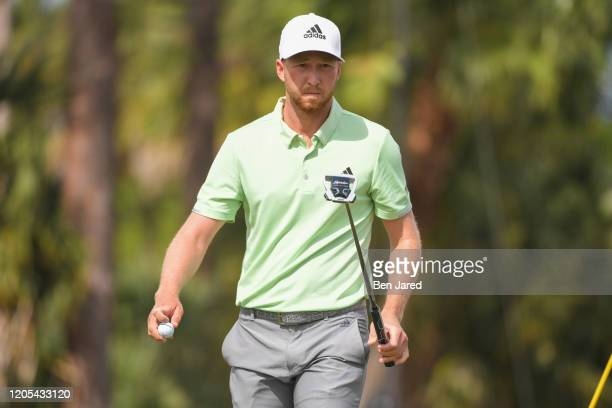 Daniel Berger walks off the third green during the final round of The Honda Classic at PGA National Champion course on March 1 2020 in Palm Beach...