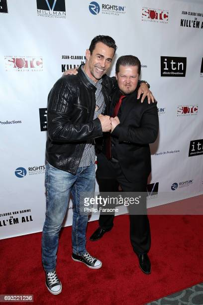 Daniel Bernhardt and Peter Organ attend the premiere of Destination Films' Kill 'em All at Harmony Gold on June 6 2017 in Los Angeles California