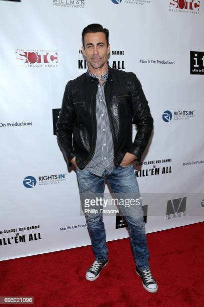 Daniel Bernhardt attends the premiere of Destination Films' Kill 'em All at Harmony Gold on June 6 2017 in Los Angeles California