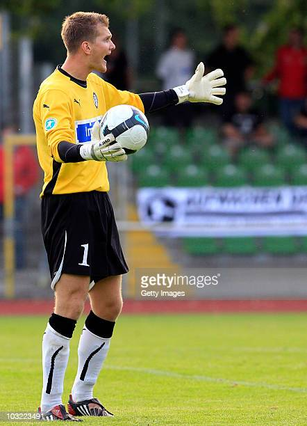 Daniel Bernhardt of Aalen during the Third League match between Werder Bremen II and VfR Aalen on August 3 2010 in Bremen Germany