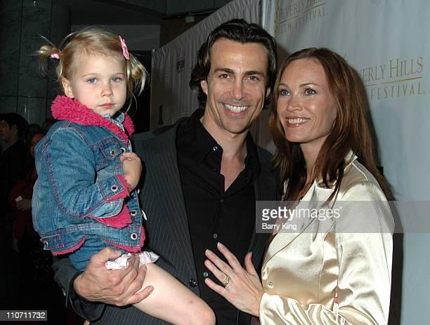 Daniel Bernhardt wife Lisa Stothard and daughter Bella
