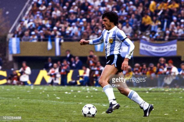 Daniel Bertoni of Argentina during the FIFA World Cup Final match between Argentina and Netherlands at Estadio Monumental Buenos Aires Argentina on...