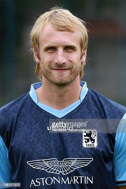 Daniel Bierofka of 1860 Muenchen poses during the Second Bundesliga team presentation of TSV 1860 Muenchen on July 11 2012 in Munich Germany