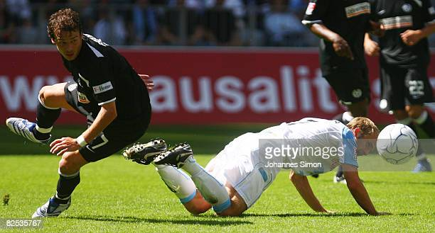Daniel Bierofka of Muenchen and Markus Feulner of Mainz fight for the ball during the Second Bundesliga match between TSV 1860 Muenchen and FSV Mainz...