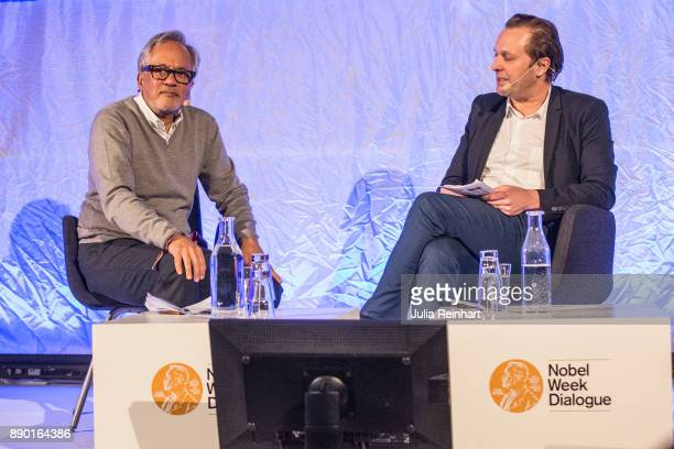 Daniel Birnbaum Director of Moderna Museet in Stockholm speaks to sculptor Sir Anish Kapoor at 'Nobel Week Dialogue the Future of Truth' conference...