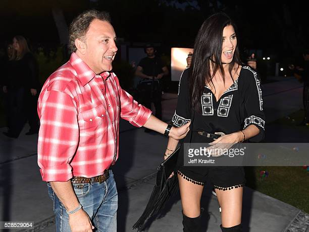 Daniel Bohbot owner of Hale Bob and TV personality Nicole Williams attend the Hale Bob Fiesta on May 5 2016 in Beverly Hills California