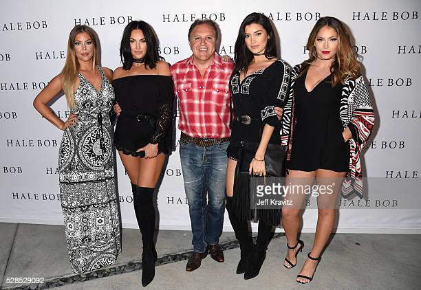 Daniel Bohbot owner of Hale Bob with TV personalities Sophia Pierson Natalie Halcro Nicole Williams and Olivia Pierson attend the Hale Bob Fiesta on...