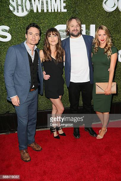 Daniel Bonjour Devin Kelley Lenny Jacobson and Tatyana Forrest arrive at the CBS CW Showtime Summer TCA Party at the Pacific Design Center on August...
