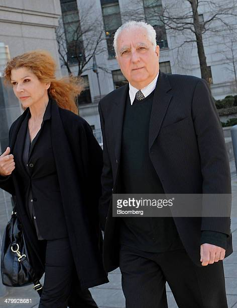 Daniel Bonventre former director of operations at Bernard L Madoff Investments Securities LLC right and wife Barbara Bonventre exit federal court...