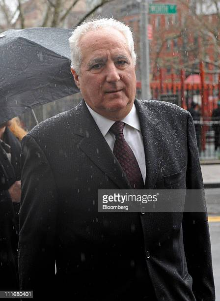 Daniel Bonventre former director of operations for Bernard L Madoff Investment Securities LLC exits federal court in New York US on Tuesday April 5...