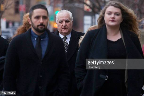 Daniel Bonventre former director of operations for Bernard L Madoff Investment Securities LLC center arrives at federal court for sentencing in New...