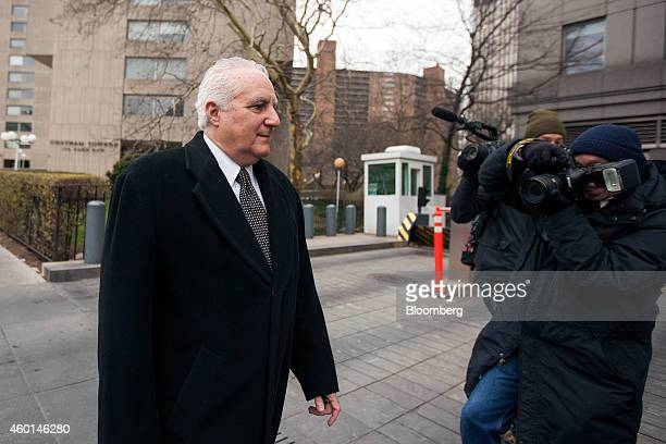 Daniel Bonventre former director of operations for Bernard L Madoff Investment Securities LLC left arrives at federal court for sentencing in New...