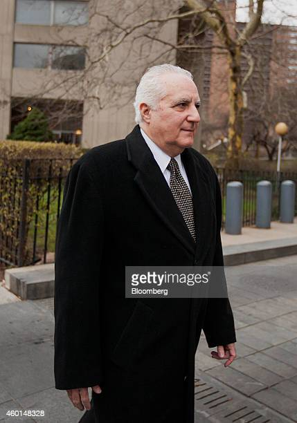 Daniel Bonventre former director of operations for Bernard L Madoff Investment Securities LLC arrives at federal court for sentencing in New York US...