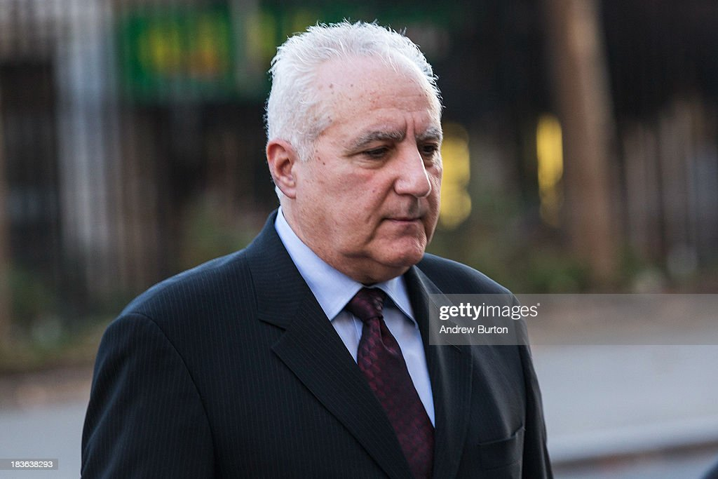Daniel Bonventre, former director of operations for investments, working under Bernie Madoff, arrives at Federal Court, to begin a trial being brought against him by the federal government on October 8, 2013 in New York City. Federal prosecutors allege that Bonventre worked for Madoff and knowingly supported the largest Ponzi in history, which Madoff led. Prior to the collapse of the scheme, Madoff reported that his accounts held approximately $68 billion, when they in fact only held a few hundred million dollars. Madoff was found guilty and is serving a 150-year sentence in North Carolina.