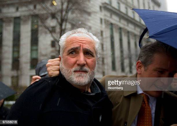 Daniel Bonventre former operations chief for Bernard M Madoff left leaves federal court following a hearing in New York US on Thursday Feb 25 2010...