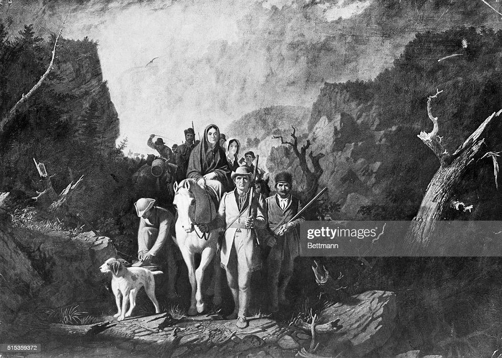 Early American Pioneers : Foto jornalística