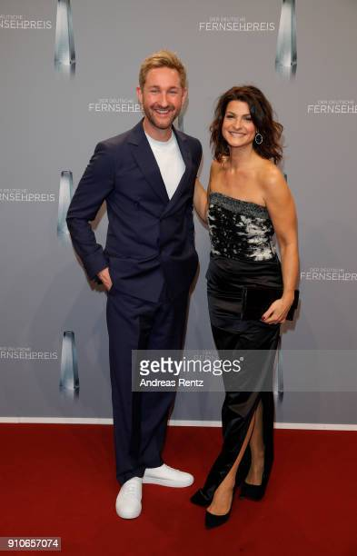 Daniel Boschmann and Marlene Lufen attend the German Television Award at Palladium on January 26 2018 in Cologne Germany