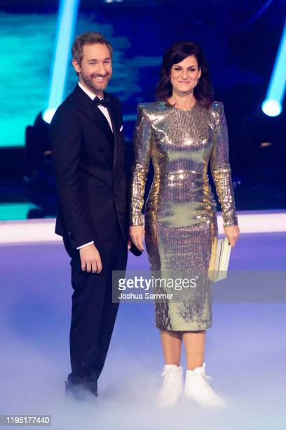 Daniel Boschmann and Marlene Lufen during the finals of the television show Dancing On Ice on December 20 2019 in Cologne Germany