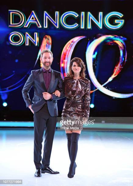 Daniel Boschmann Marlene Lufen during a photo call for german Sat1 television show 'Dancing on Ice' at MMCStudios on January 4 2019 in Cologne Germany