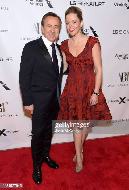 Daniel Boulud and Katherine Boulud attend the American Ballet Theatre 2019 Fall Gala at David H Koch Theater at Lincoln Center on October 16 2019 in...