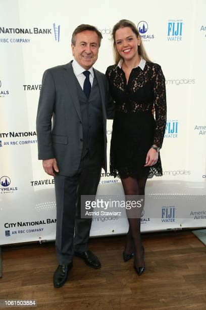 Daniel Boulud and Katherine Gage attend Citymeals' 32nd power lunch for women at The Rainbow Room on November 14 2018 in New York City