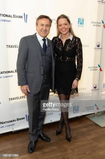 Daniel Boulud and Katherine Gage attend Citymeals 32nd power lunch for women at The Rainbow Room