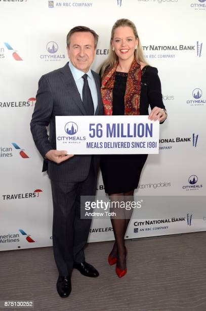 Daniel Boulud and Katherine Gage attend the 31st Annual Citymeals on Wheels Power Lunch for Women at The Rainbow Room on November 16 2017 in New York...