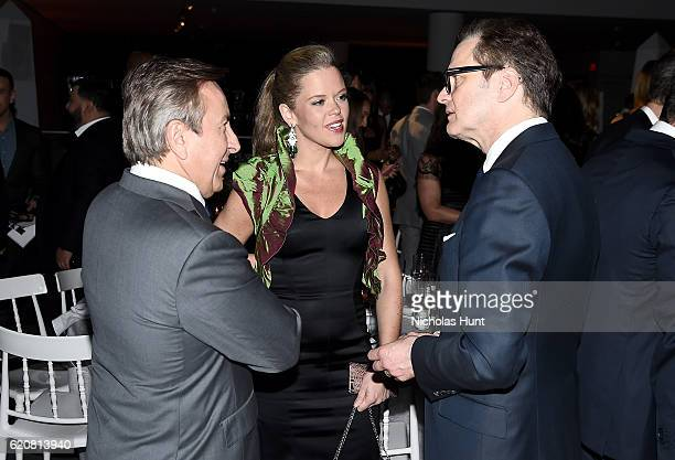 Daniel Boulud Katherine Gage and Colin Firth attend the WSJ Magazine 2016 Innovator Awards at Museum of Modern Art on November 2 2016 in New York City
