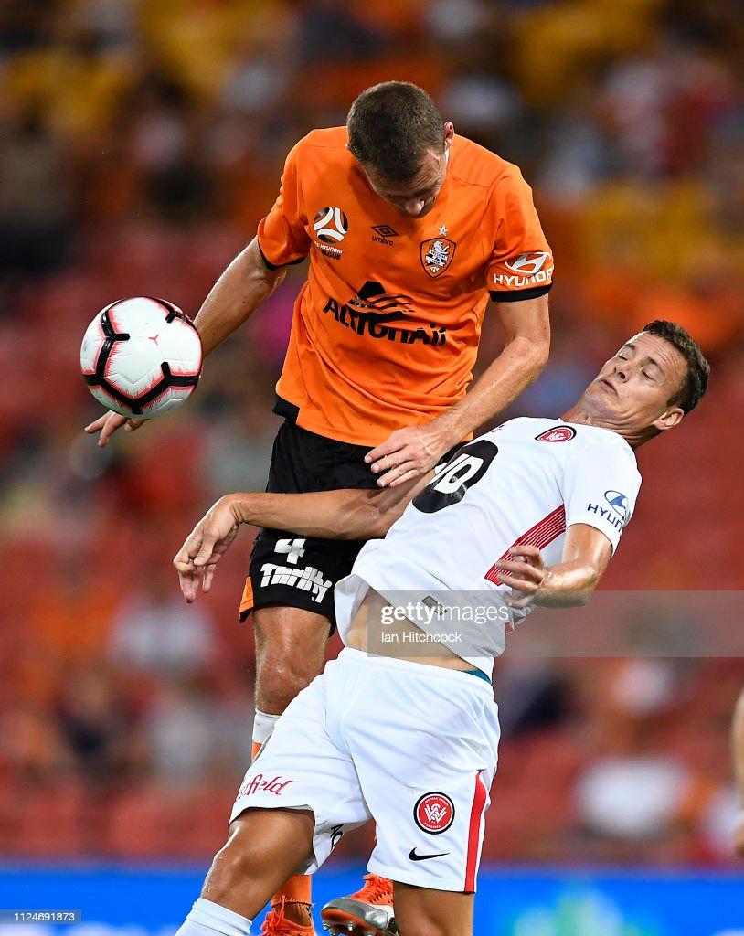 A-League Rd 16 - Brisbane v Western Sydney : News Photo