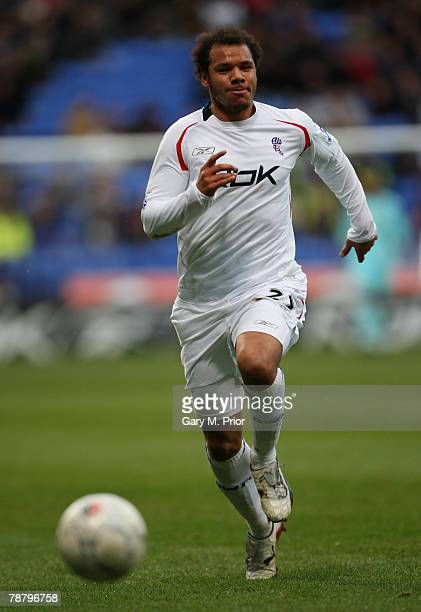 Daniel Braaten of Bolton Wanderers in action during the FA Cup sponsored by EON 3rd Round tie between Bolton Wanderers and Sheffield United at the...